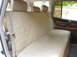 "Deluxe Quilted and Padded Back Seat Bench cover - One size fits all 56""W Taupe"