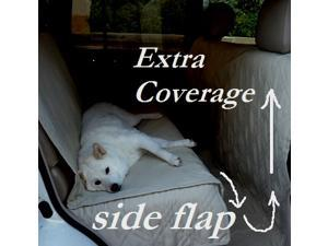 "Deluxe Quilted and Padded seat cover for Pets - One Size Fits All 56""Wx94""L Taupe"