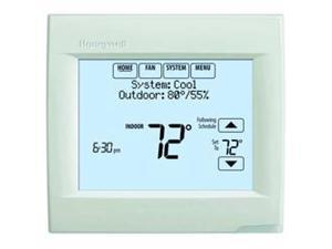 Honeywell TH8110R1008 VisionPRO 8000 Arctic White Touch Screen Programmable 溫度控制器, 18 To 30 VAC/750 mV