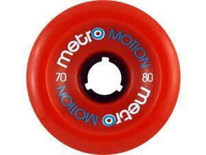METRO MOTION 70mm 80a RED Skateboard Wheels