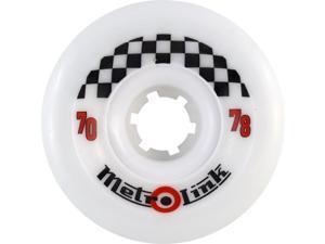 METRO LINK 70mm 78a WHITE Skateboard Wheels