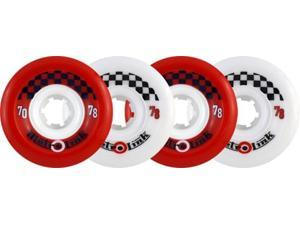 METRO LINK 70mm 78a MIXED RED WHITE Skateboard Wheels