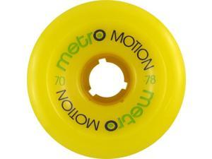 METRO MOTION 70mm 78a YELLOW Skateboard Wheels
