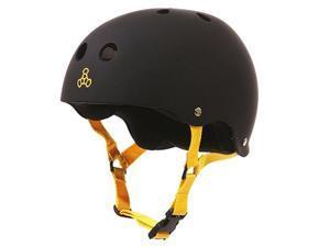 TRIPLE 8 BRAINSAVER HELMET BLACK RUBBER M sweat liner Skateboard Helmet