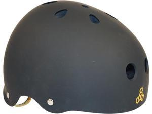 TRIPLE 8 HELMET BLK RUBBER/BLK XL Skateboard Helmet