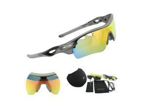 Duco POLARIZED Sports Sunglasses Cycling Glasses With 5 Interchangeable Lenses 0025