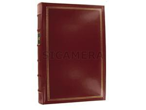 Pioneer BTA-204 Genuine Bonded Leather Red Photo Album - holds horizontal or vertical prints up to 4x6 or APS panoramics!