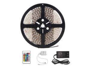 Waterproof 3528 150 LED 5M 16FT RGB Strip Lights Lamp With 24 Key IR Remote Controller Multi Color For Christmas Party