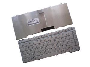 WIFEB Laptop Keyboard for Toshiba Satellite A200 A205 A210 A215 A355 Laptop--Color:Silver