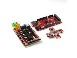 WIFEB 3D Printer kit Iduino Mega2560 Main Control Plate+RAMP1.4 Control Board+4*A4988 Drives