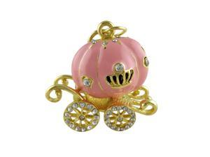 WIFEB Pink Pumpkin Car 16GB USB 2.0 Flash Stick with Keychain (Pumpkin pink car)