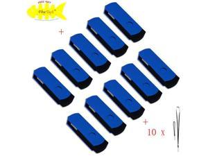 FEBNISCTE 10 Pack Blue Euro Style Swivel 4GB USB 2.0 Memory Stick