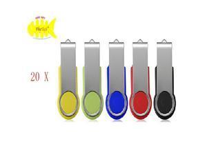 WIFEB Mix Color 100pcs 2GB Flash Drive Swivel USB 2.0 Thumb Stick