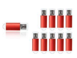 FEBNISCTE 10 Pack Red 16GB USB3.0 Flash Memory Stick