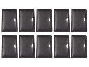 FEBNISCTE Disposable Giveaway Gift 2GB White Credit Card Flash Disk - Black Card Case - Pack of 10