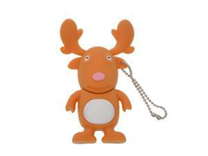 FEBNISCTE Cartoon Christmas Deer 16gb USB3.0 Flash Drive