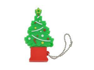 FEBNISCTE Cute Christmas Green Tree USB3.0 64gb Flash Memory Stick