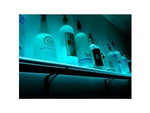 Wall Mounted LED Lighted Liquor Bottle Shelf: 6'L