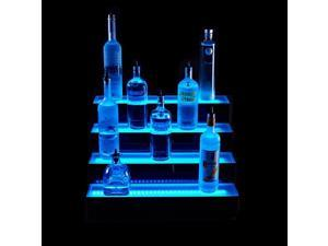 4 Tier LED Lighted Liquor Bottle Display Shelf: 6'L