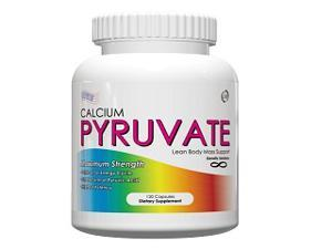 Calcium Pyruvate- All Natural Fat Burning Formula, 1000mg Daily, 120 Capsules, Calcium Pyruvate Fat Burner and Belly Melt