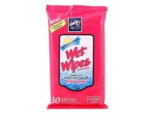 ANTI BACTERIAL WET WIPES 30 CT REF# 4313