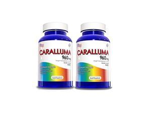2 Bottles of Caralluma Fimbriata, Appetite Suppressant Weight Loss Supplement, 60 Capsules