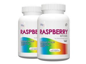 Pack of 2 Raspberry Ketones- 100% Natural Weight Loss Supplement, 1 Capsule Per Serving of 250mg Raspberry Ketones