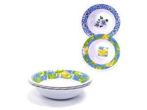 Cereal Bowls Set 3 pc 7.5 (Pack of 2), Back To School Assorted design