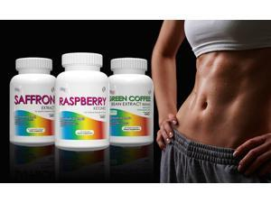 Saffron Extract, Raspberry Ketones, Green Coffee Bean Extract for Weight Loss