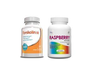 Weight Loss Supply - Raspberry Ketones & Forskolin 50 30 Day Supply