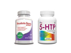 5 HTP Supplement & Rhodiola Rosea, 120 Capsules 4 Month Supply