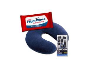 Genetic Solutions Travel Kit Essentials -Travel Neck Pillow & Flight Antibacterial Wipes