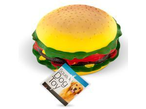 Giant Burger Squeaky Dog Toy