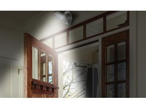 Indoor-Outdoor Motion-Activated Wireless 7-LED Light with 360° Rotation