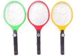 Electric Fly Swatter-Rechargeable Fly Swatter & Mosquito Killer, (Colors May Vary)