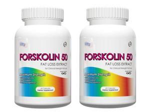 Forskolin for Weight Loss-Body Fat Burner, (Pack of 2) 60 Capsules, 250mg, Coleus Forskohlii (20% Yielding 50mg Active)