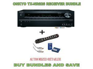 Onkyo TX-NR626 7.2-Channel  A/V Receiver Plus Monster Surge Protector HDMI Bundle