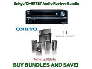 Onkyo TX-NR737 7.2-Channel Network A/V Receiver & Definitive Technology Pro Cinema 800 System Black