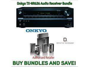 Onkyo TX-NR636 7.2-Channel Network A/V Receiver & Definitive Technology Pro Cinema 800 System Black