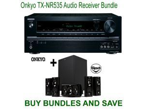 Onkyo TX-NR535 5.2-Channel Network A/V Receiver + Klipsch HDT-600 Home Theater System