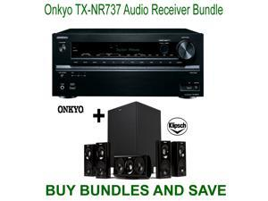 Onkyo TX-NR737 7.2-Channel Network A/V Receiver + Klipsch HDT-600 Home Theater System