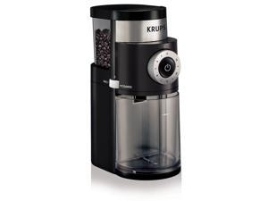 KRUPS GX5000 Professional Electric Burr grinder with Grind Size and Cup Selection, Black and Stainless steel