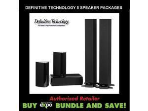 Definative Technology Surround Sound 5 Speaker Bundle Package