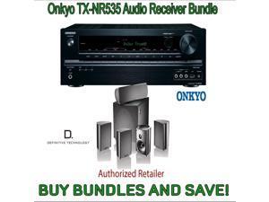 Onkyo TX-NR535 5.2-Channel Network A/V Receiver & Definitive Technology ProCinema 600 5.1 Speaker System (Set of Six, Black)