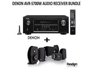 Denon AVR-S700W Bundle 7.2-Channel Network A/V Receiver with Bluetooth and Wi-Fi + Paradigm Cinema 100 Home Theater System