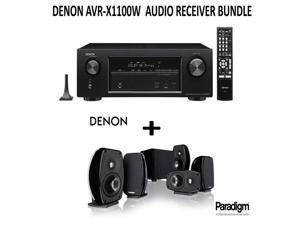 Denon AVR-X1100W Bundle 7.2 Channel Full 4K Ultra HD A/V Receiver with Bluetooth and Wi-Fi + Paradigm Cinema 100 Home Theater System