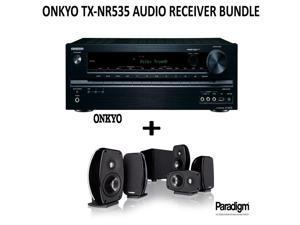 Onkyo TX-NR535 Bundle 5.2-Channel Network A/V Receiver + Paradigm Cinema 100 Home Theater System