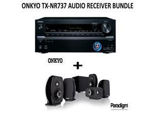 Onkyo TX-NR737 Bundle 7.2-Channel Network A/V Receiver + Paradigm Cinema 100 Home Theater System