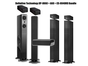 Definitive Technology BP-8060 with Built-In Powered Subwoofers + 2 Pairs of A60 Elevation Bundle