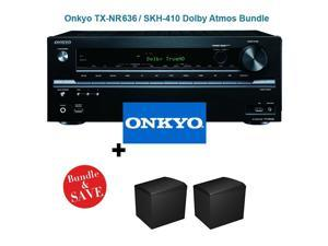 Onkyo TX-NR636 7.2-Channel Network A/V Receiver + Onkyo SKH-410 Dolby Atmos-Enabled Speaker System (Set of 2)